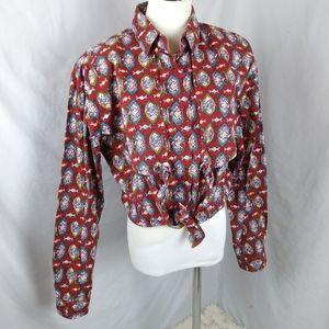 Vintage 90s equestrian western wear button shirt